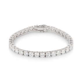 White Gold Diamond Line Bracelet 10.50ct